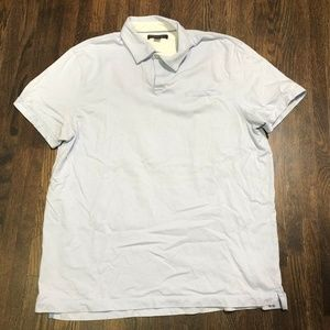 Banana Republic  Polo SzXL Light Blue Fitted Pima